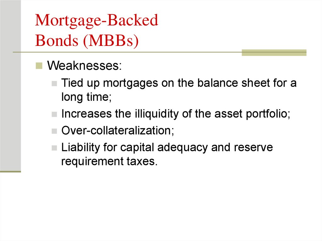 Mortgage-Backed Bonds (MBBs)