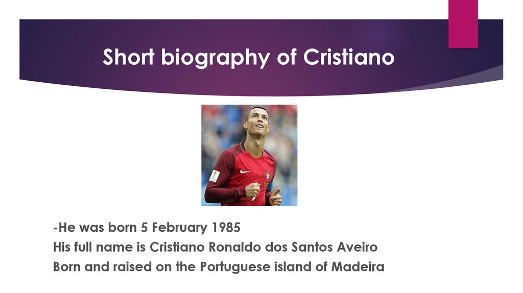 Short biography of Cristiano