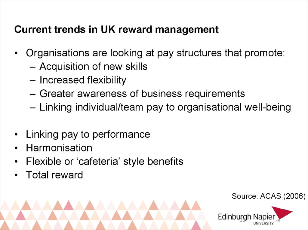 new trends in reward management Organizations are using comprehensive compensation as a strategy for creating environments that reward employees and establish a strong ethos of employee engagement this trend brings with it an increased demand for flexibility in compensation systems it is not uncommon for companies today to.