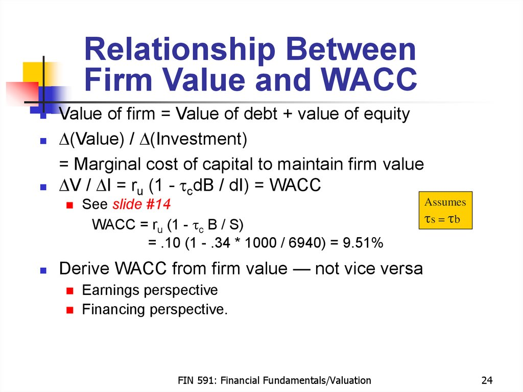 relationship between wacc blackberry's value Discounted cash flow interview questions and then also discount that back to its net present value using wacc what's the relationship between debt and.