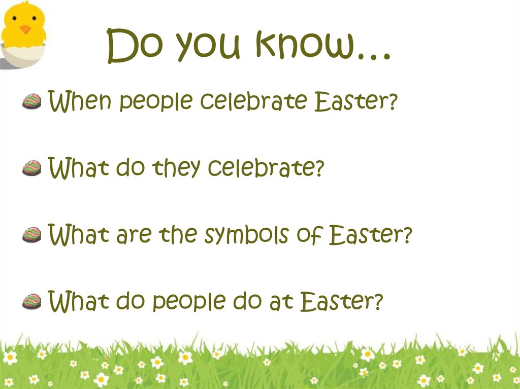 Easter History Symbols And Traditions Online Presentation