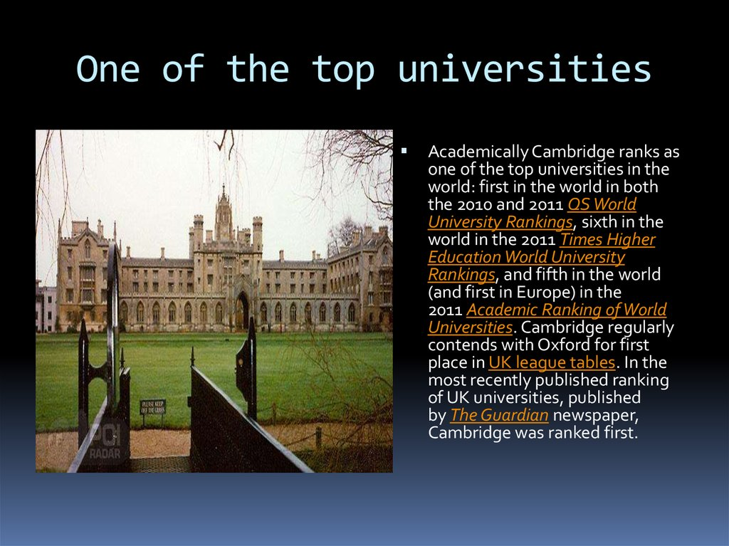 One of the top universities