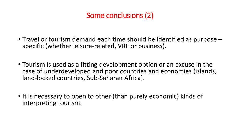 Some conclusions (2)