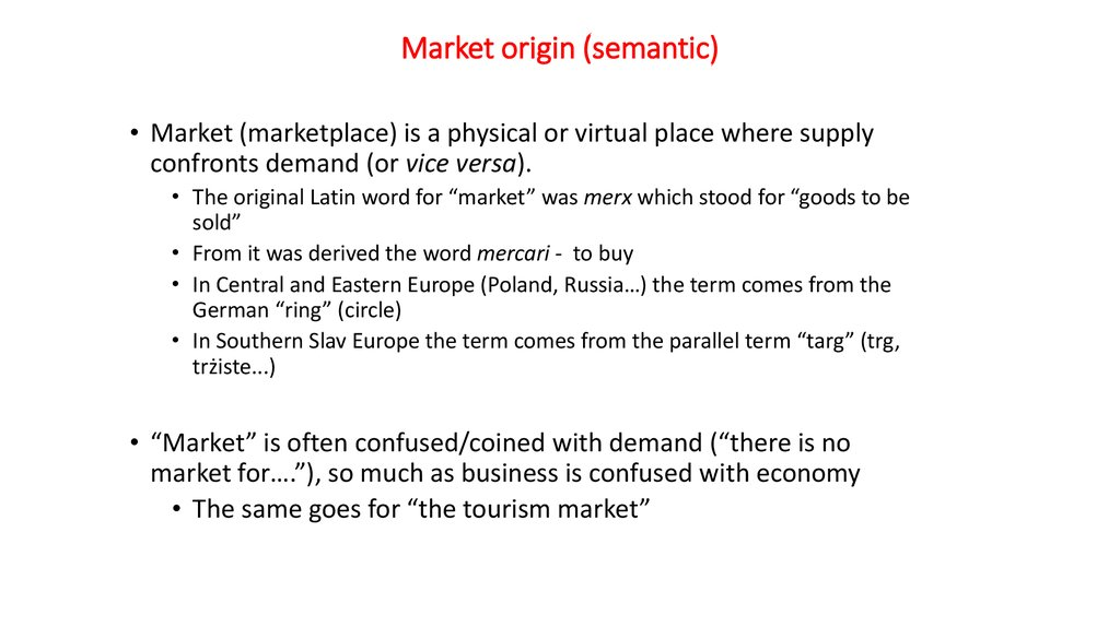 Market origin (semantic)