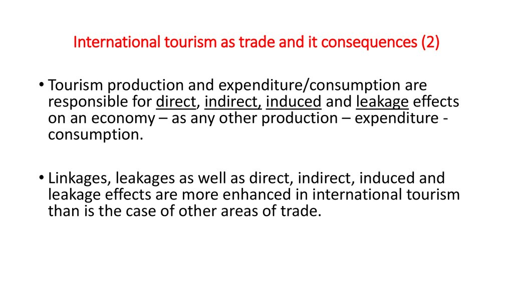 International tourism as trade and it consequences (2)