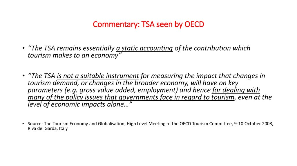 Commentary: TSA seen by OECD