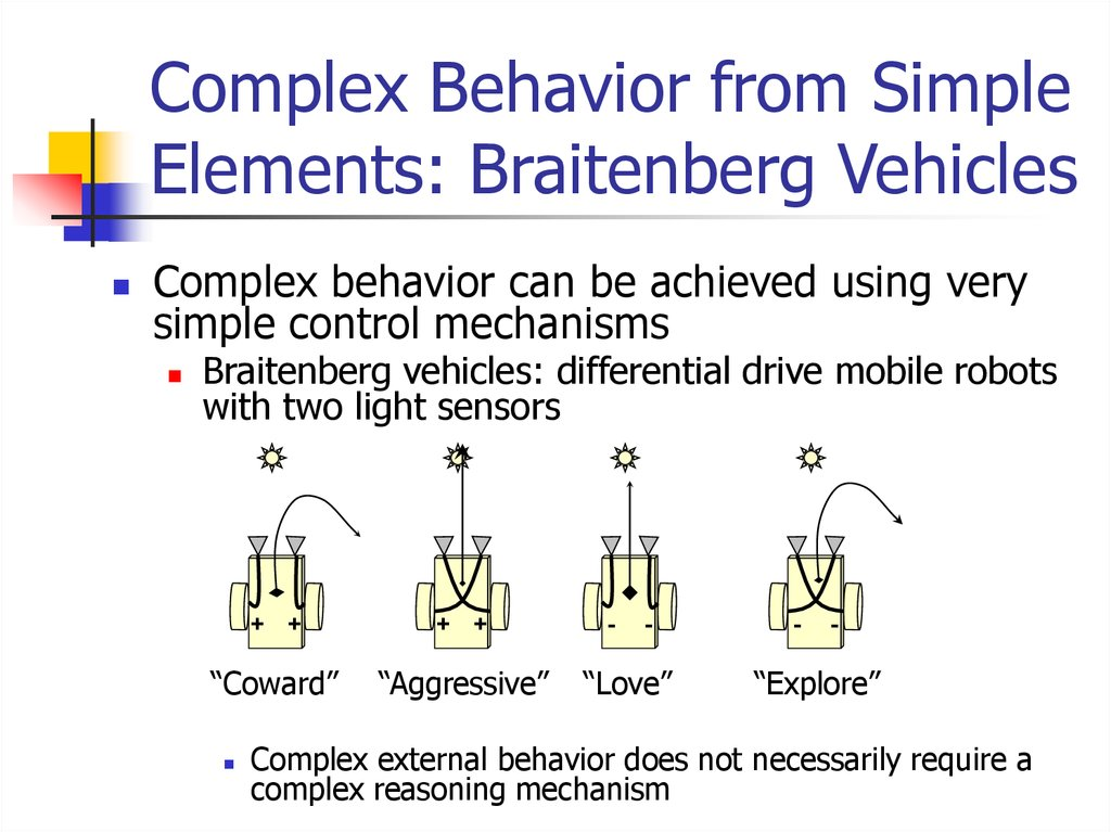 Complex Behavior from Simple Elements: Braitenberg Vehicles