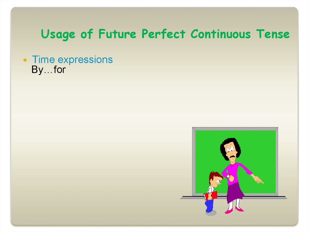 Usage of Future Perfect Continuous Tense