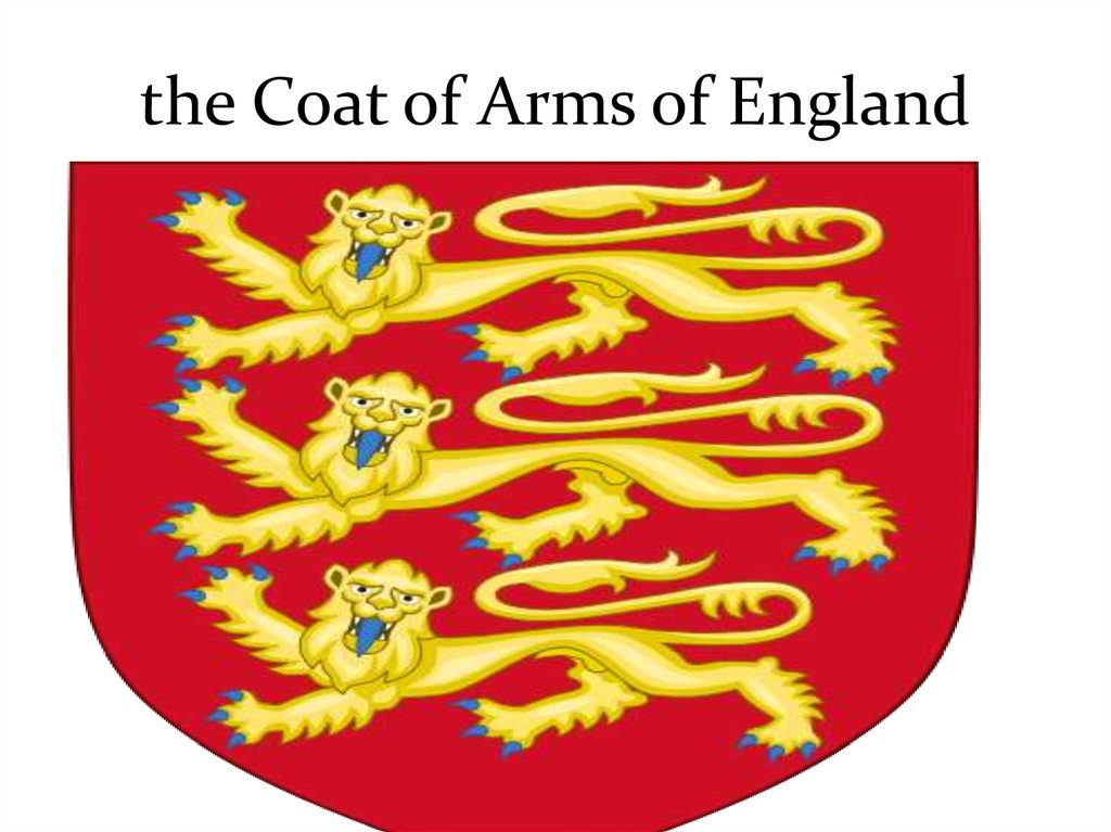 the Coat of Arms of England