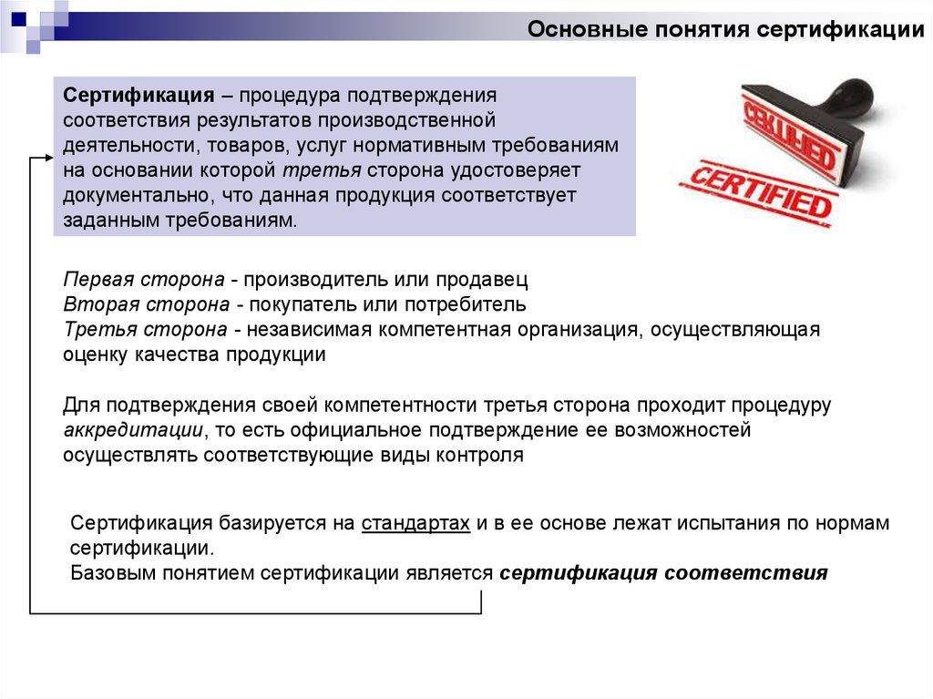 Испытание продукции для подтверждения ее качества сертификация экологическая сертификация в украине реферат