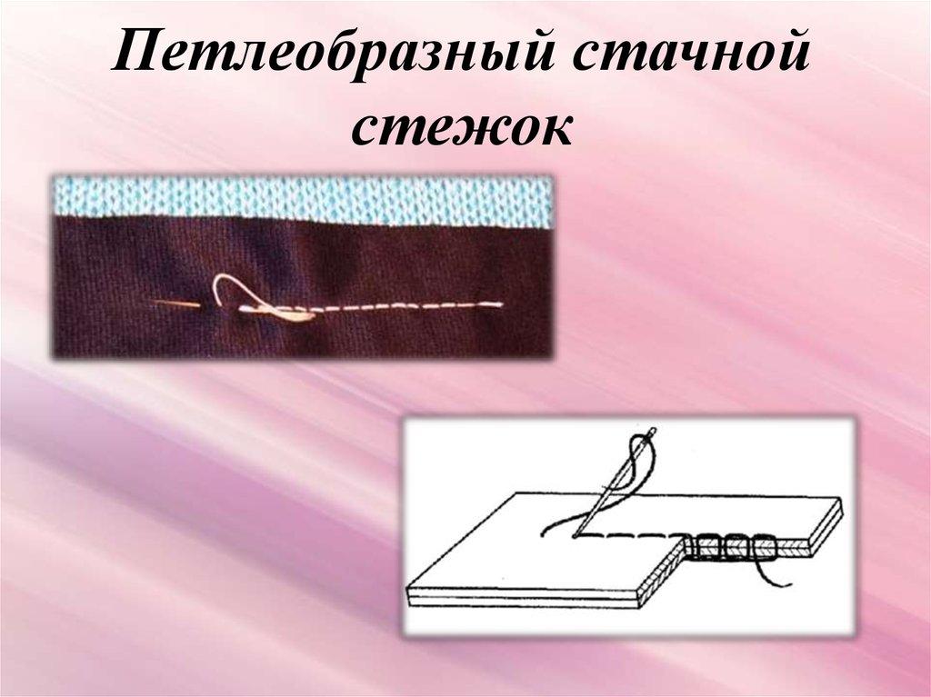 строчка петлеобразных стежков картинка каталоге