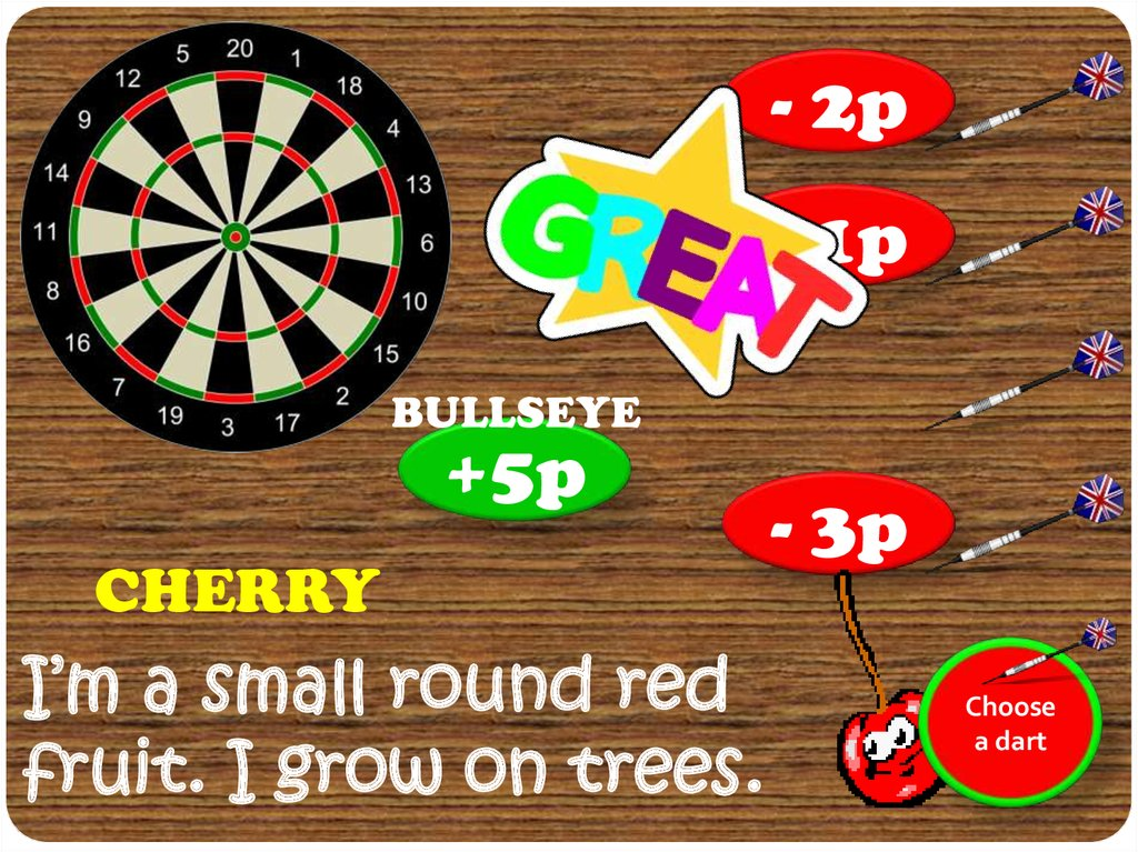 Which Food Am I A Dart Game Online Presentation