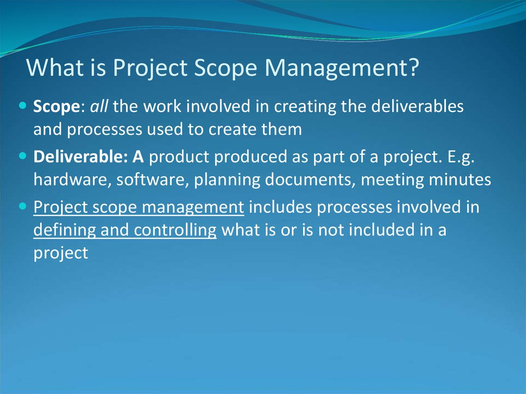 What is Project Scope Management?