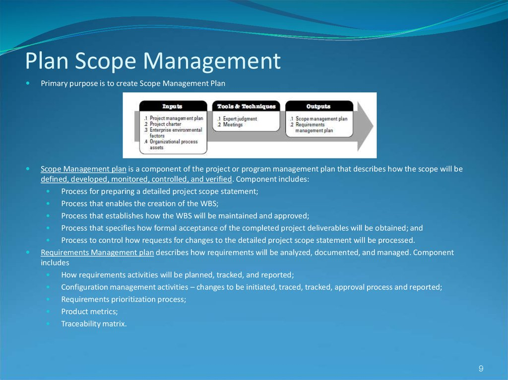 Plan Scope Management