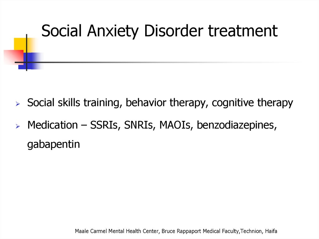 Gabapentin for Generalized Anxiety and Social Anxiety Disorders