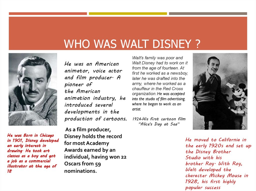 who was Walt Disney ?