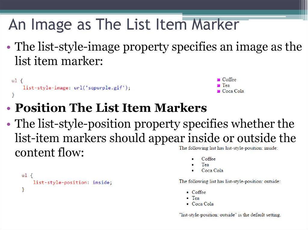 An Image as The List Item Marker