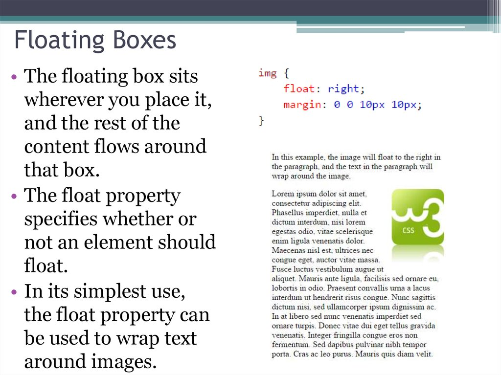 Floating Boxes