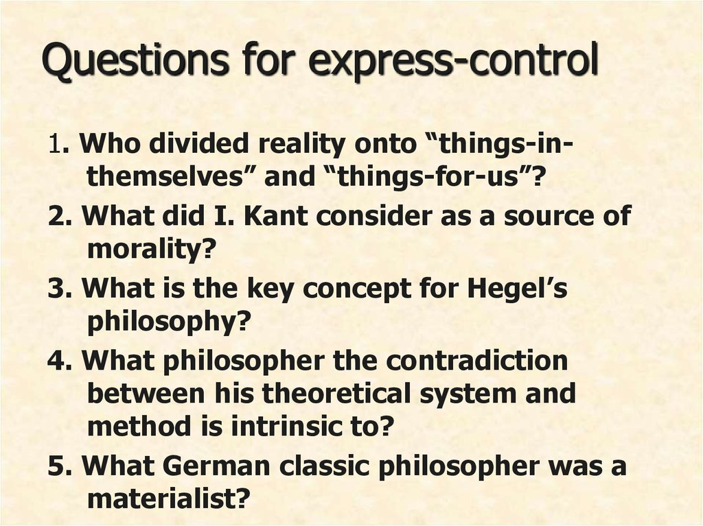 Questions for express-control