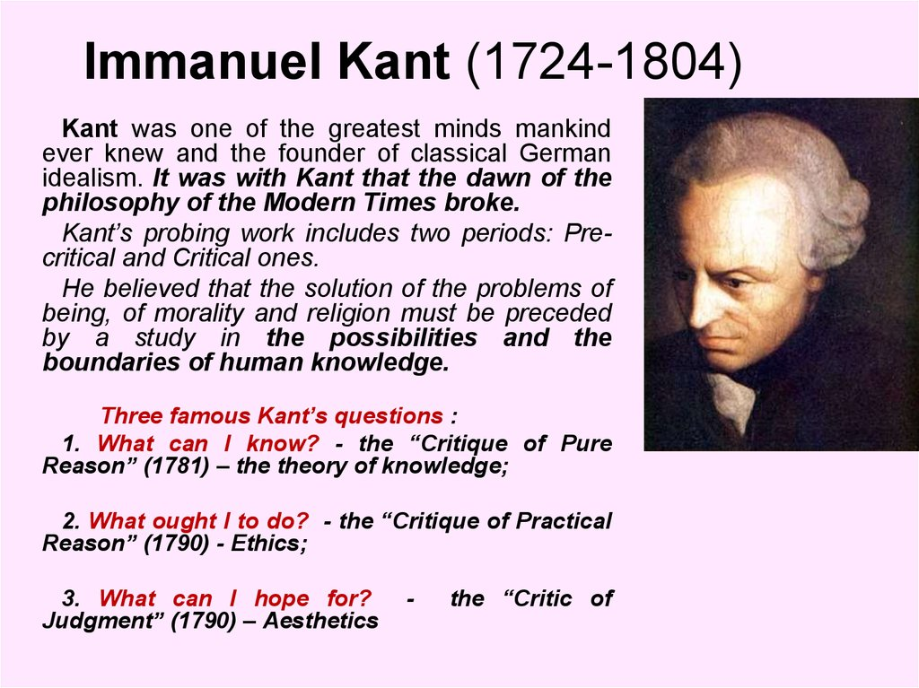 an analysis of the philosophy of emmanuel kant Summary and analysis of immanuel kant's critique of pure reason - the transcendental aesthetic  immanuel kant, critique of pure reason, philosophy, thug notes, 8-bit philosophy, wise crack.