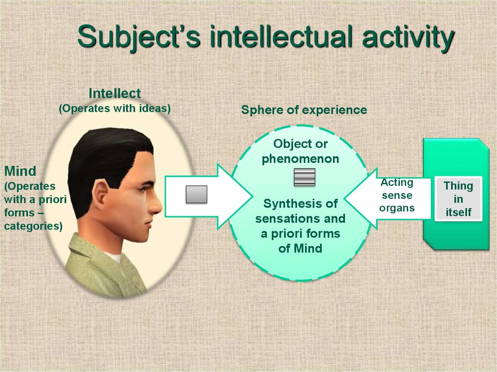 Subject's intellectual activity
