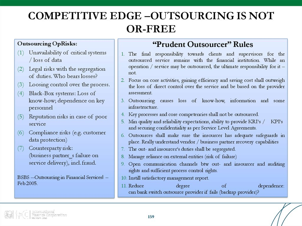COMPETITIVE EDGE –OUTSOURCING IS NOT OR-FREE