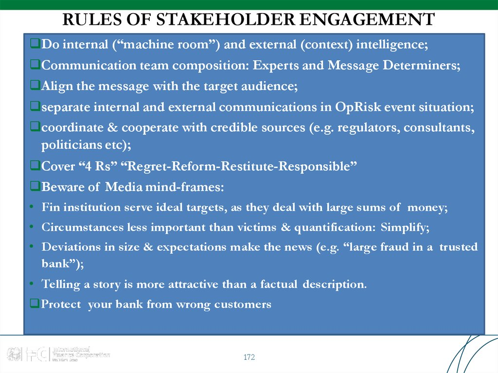RULES OF STAKEHOLDER ENGAGEMENT