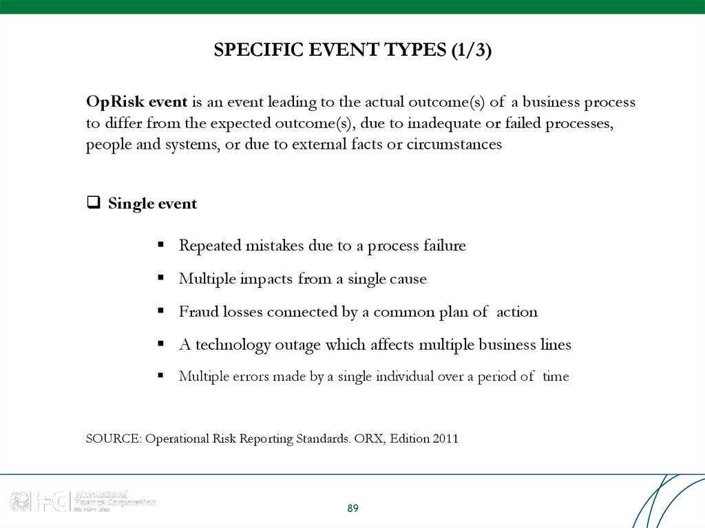 SPECIFIC EVENT TYPES (1/3)