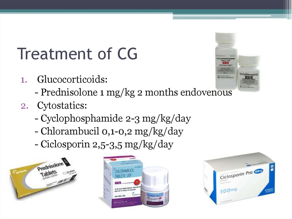 Treatment of CG