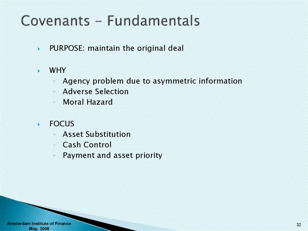 Covenants - Fundamentals