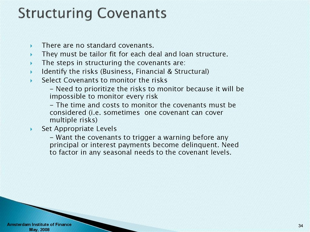 Structuring Covenants