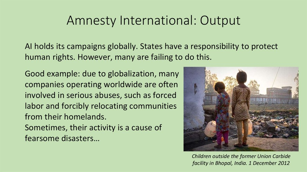 amnesty international online presentation