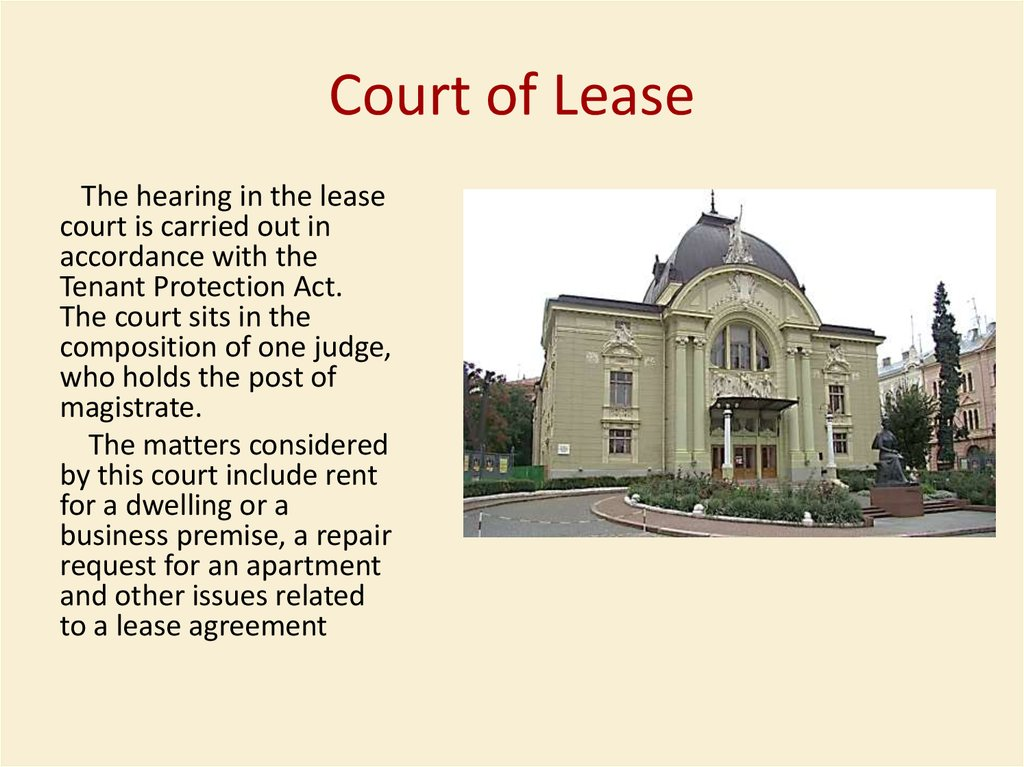 Court of Lease
