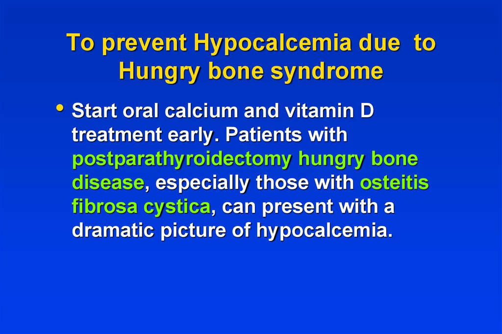 Treatment of Acute Hypocalcemia