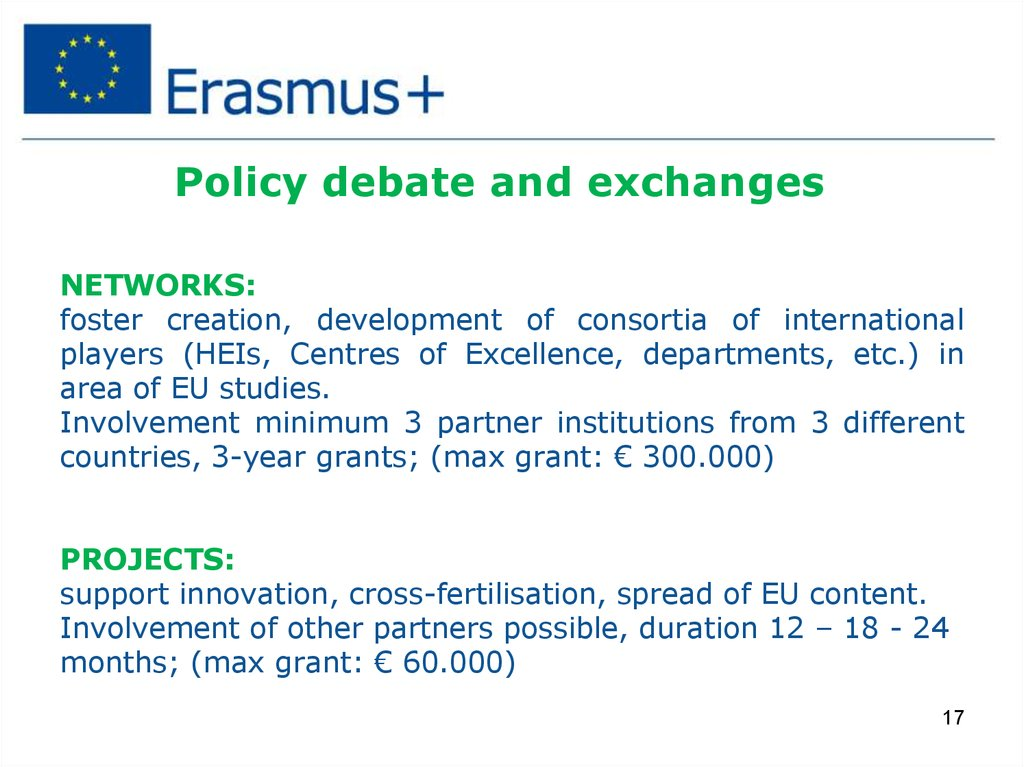 Policy debate and exchanges