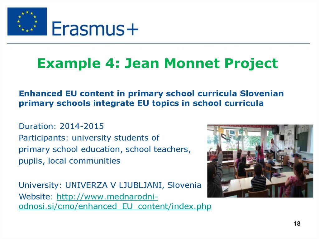 Example 4: Jean Monnet Project