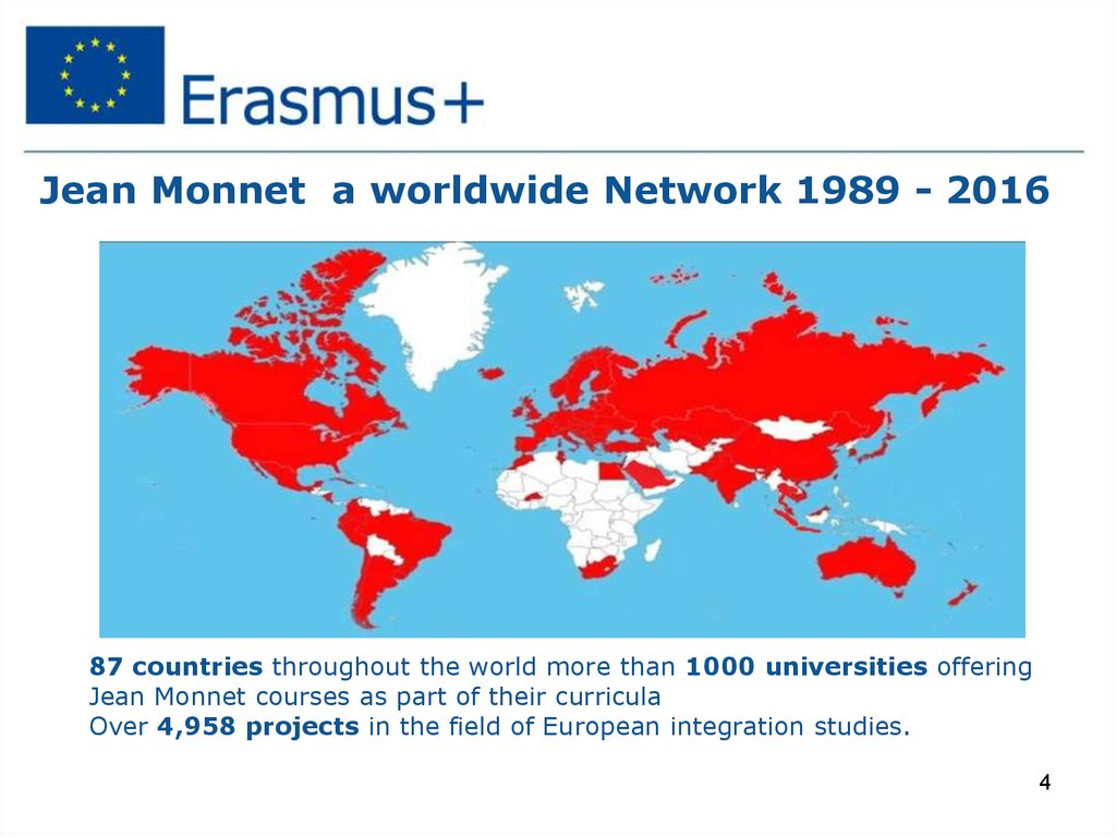 Jean Monnet a worldwide Network 1989 - 2016