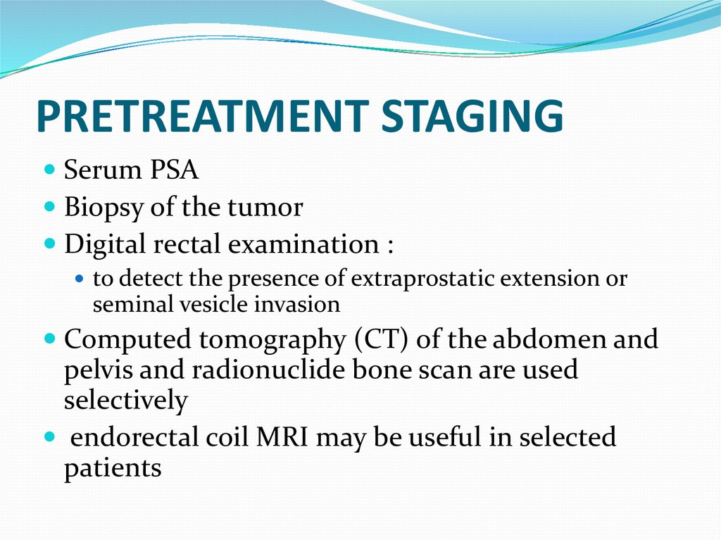PRETREATMENT STAGING