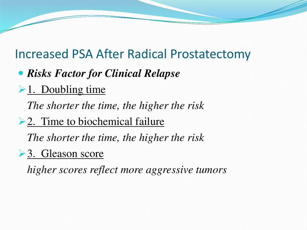 Increased PSA After Radical Prostatectomy