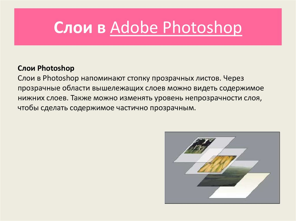Слои в Adobe Photoshop
