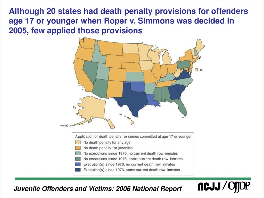 an analysis of juvenile offenders and the death penalty Key supreme court cases on the death penalty for juveniles the constitutionality of executing persons for crimes committed when they were under the age of 18 is an issue that the supreme court has evaluated in several cases since the death penalty was reinstated in 1976.