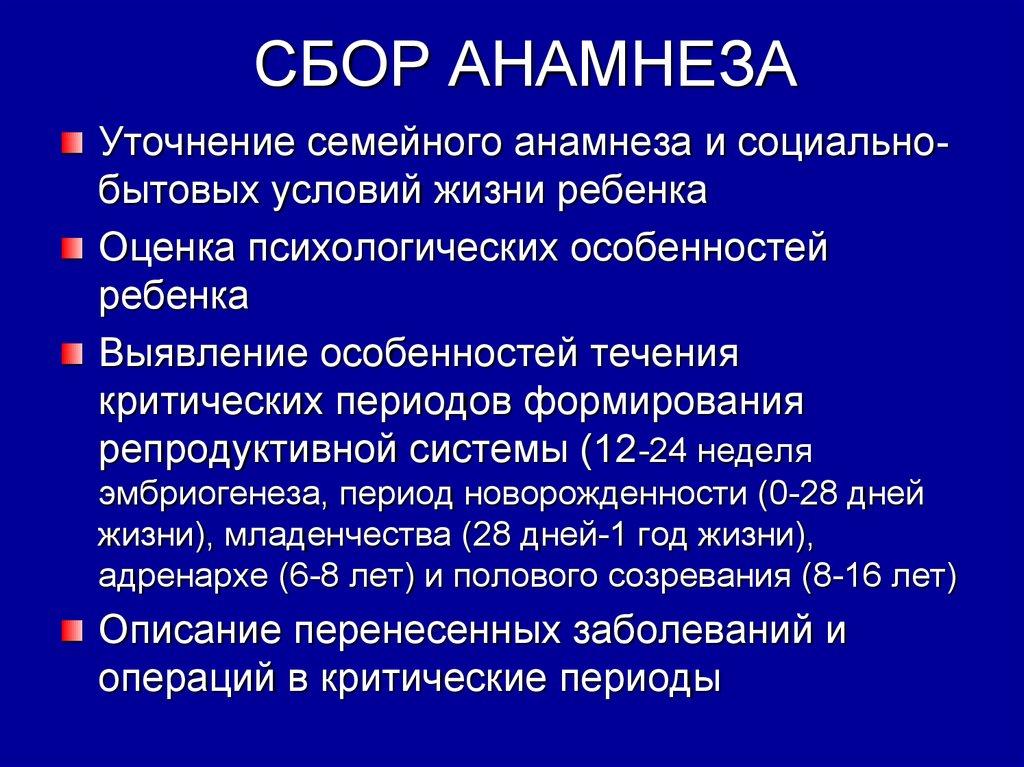 СБОР АНАМНЕЗА