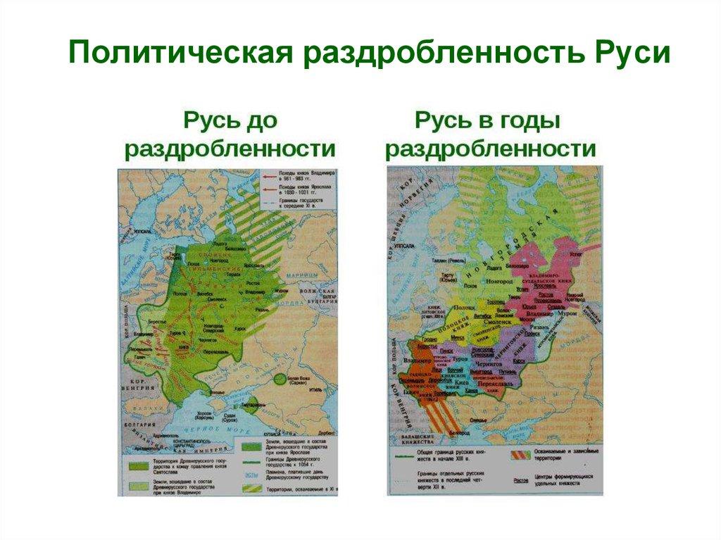 политическая раздробленность на руси x-xiii шпаргалки