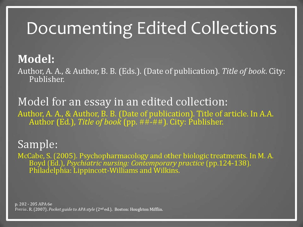 cite essay edited collection Automatically cite an edited book in apa, chicago, harvard, or mla style format instant and free.