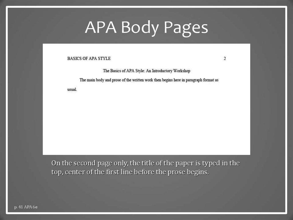 apa style  the basics