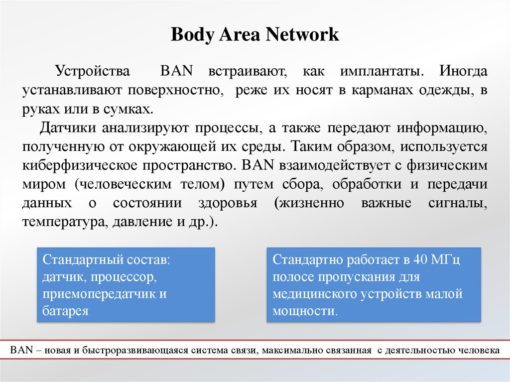 Body Area Network