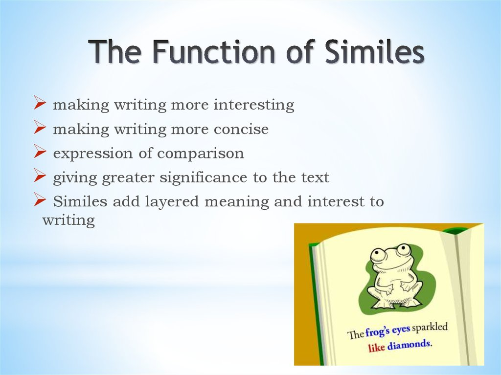 Simile Modern Examples Of Similes Online Presentation