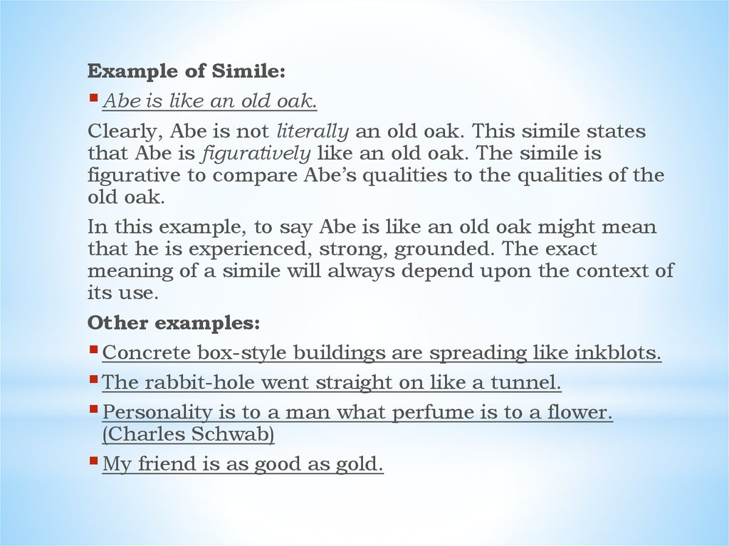Simile Modern Examples Of Similes