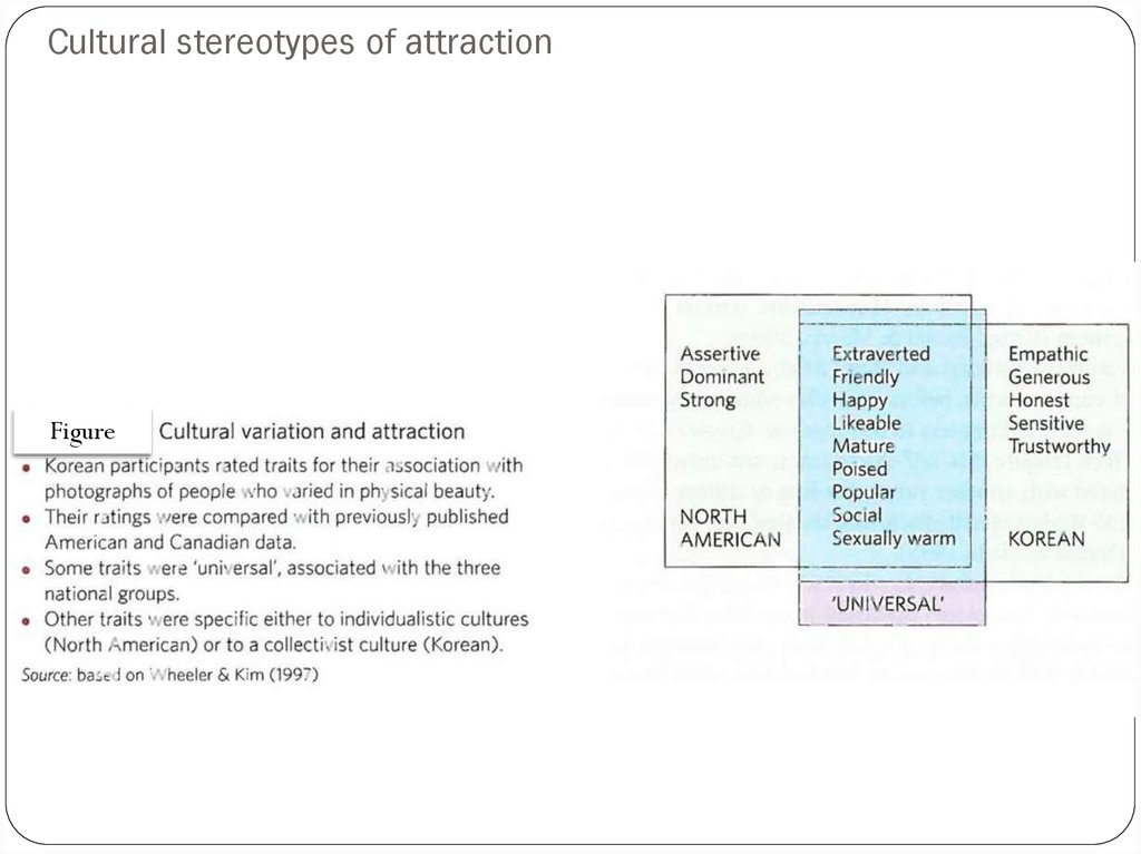 Cultural stereotypes of attraction