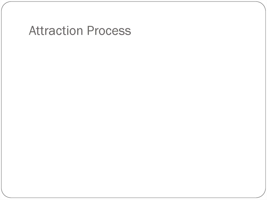 Attraction Process